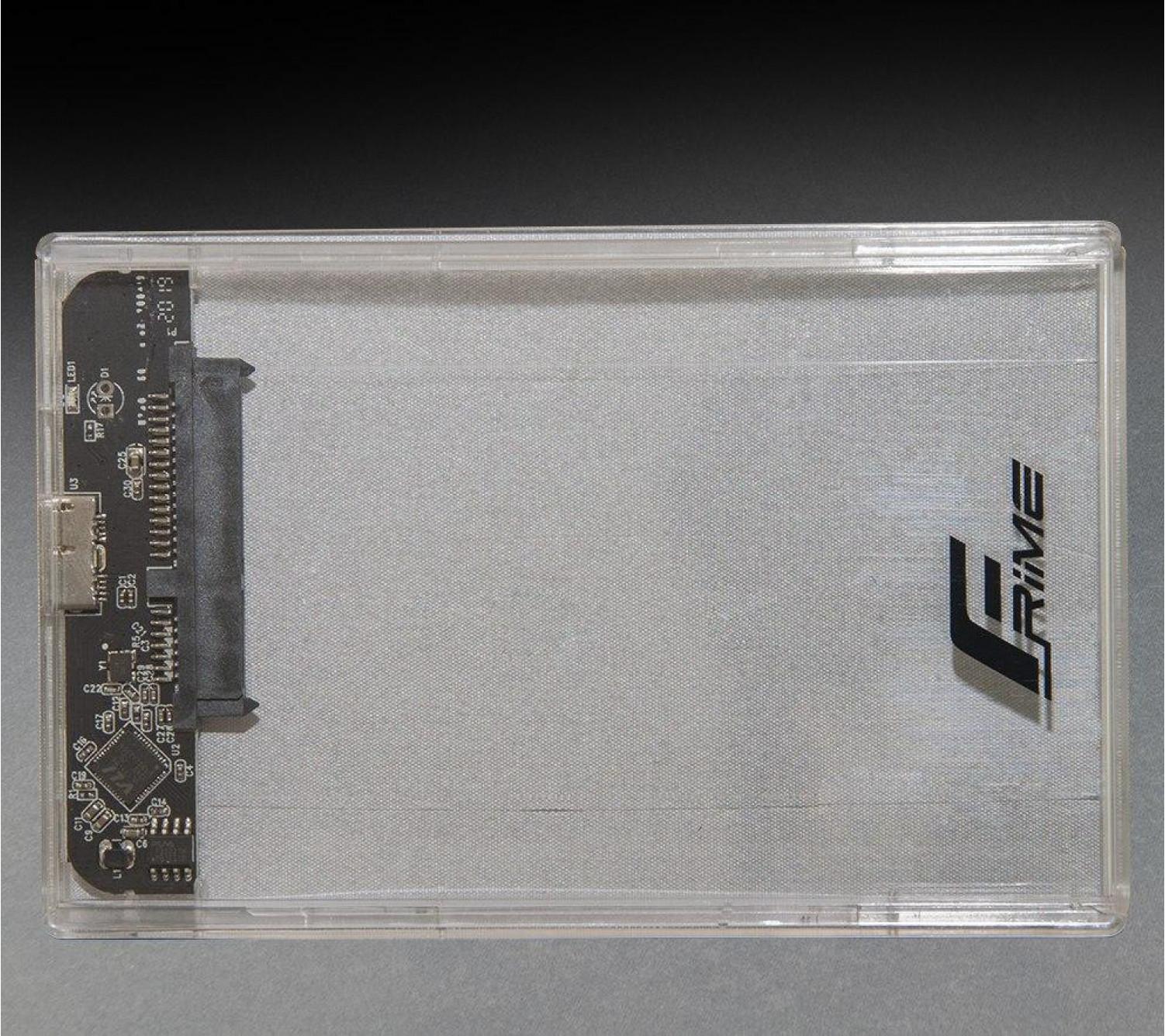 "Внешний карман Frime для 2.5 ""SATA HDD / SSD Plastic USB 3.0 Clear (FHE80.25U30)"