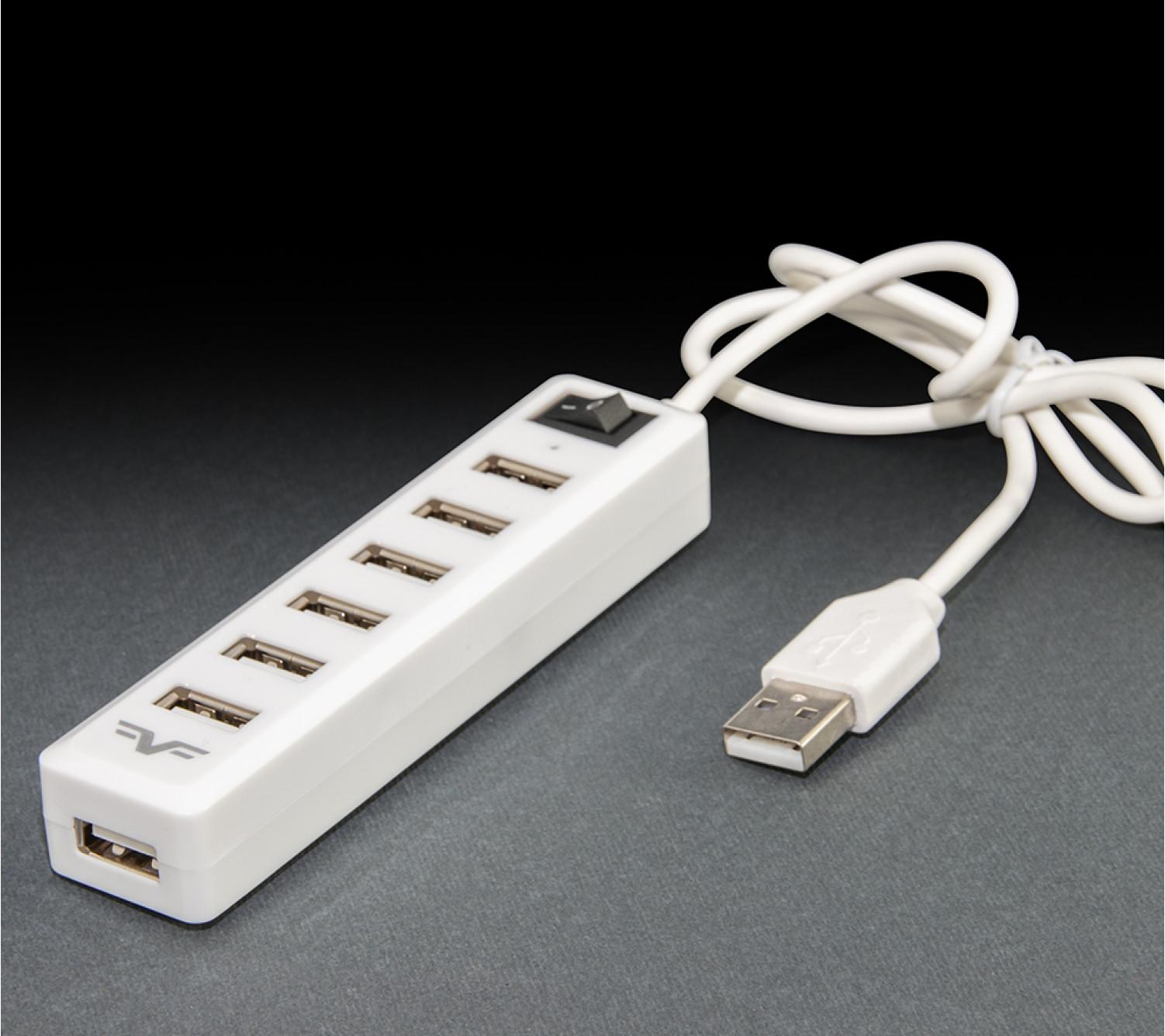 USB-хаб Frime 7-ми портовый 2.0 White (FH-20041)