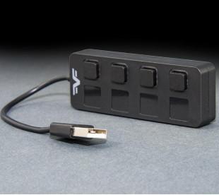 USB-хаб Frime 4-х портовый 2.0 Black (FH-20010)
