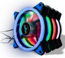 Вентилятор Frime Iris LED Fan Double Ring Blue
