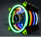 Вентилятор Frime Iris LED Fan Double Ring Green