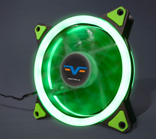 Вентилятор Frime Iris LED Fan Double Ring Green