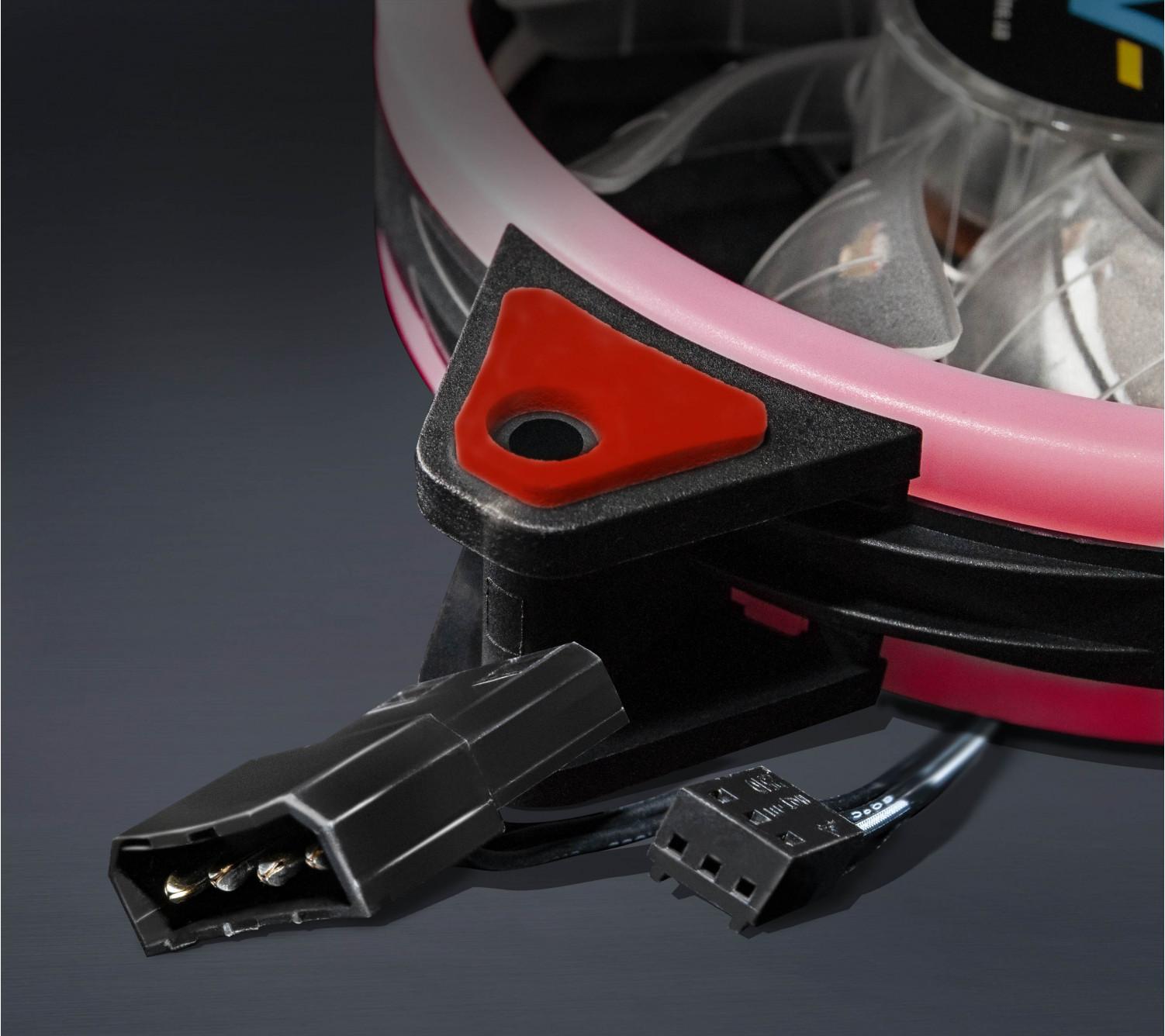 Вентилятор Frime Iris LED Fan Double Ring Red