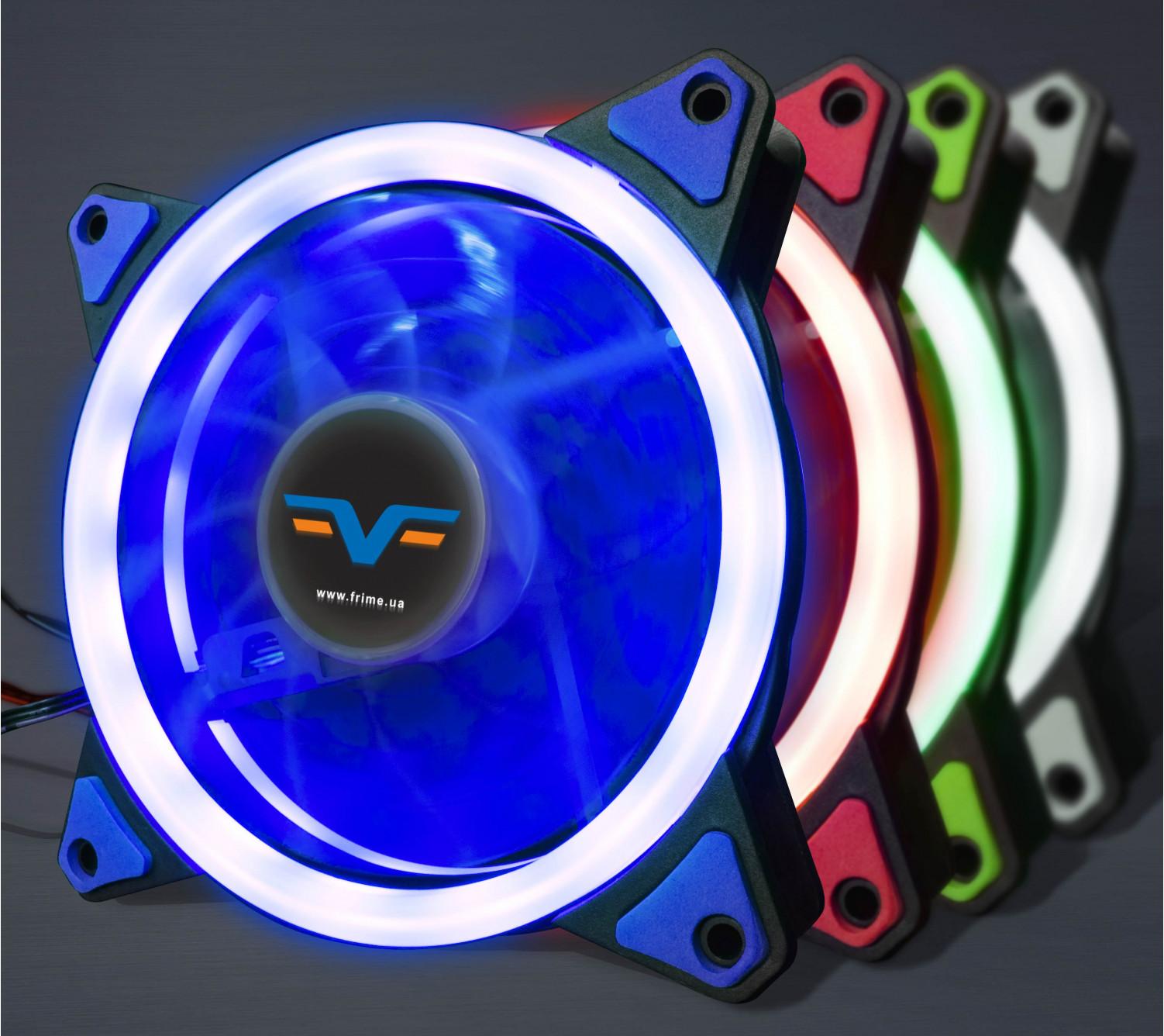 Вентилятор Frime Iris LED Fan Single Ring Blue
