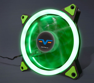 Вентилятор Frime Iris LED Fan Single Ring Green