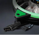 Вентилятор Frime Iris LED Fan Single Ring Green