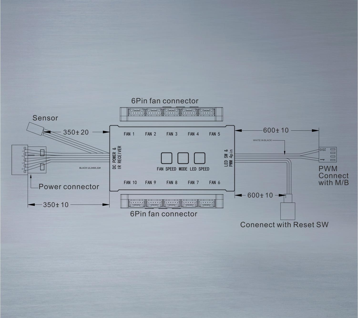 Набор вентиляторов Frime IRIS SPACE KIT (3 шт.)