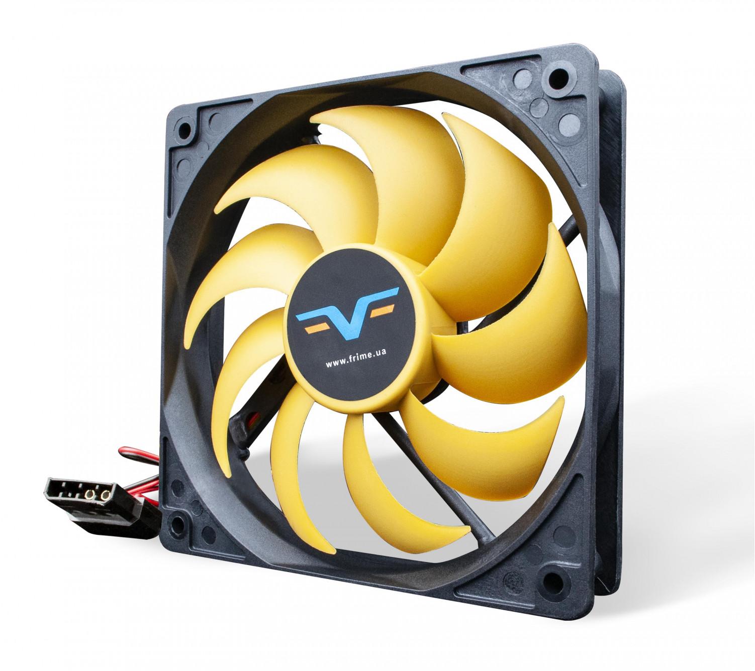 Вентилятор Frime FYF120 Black/Yellow molex