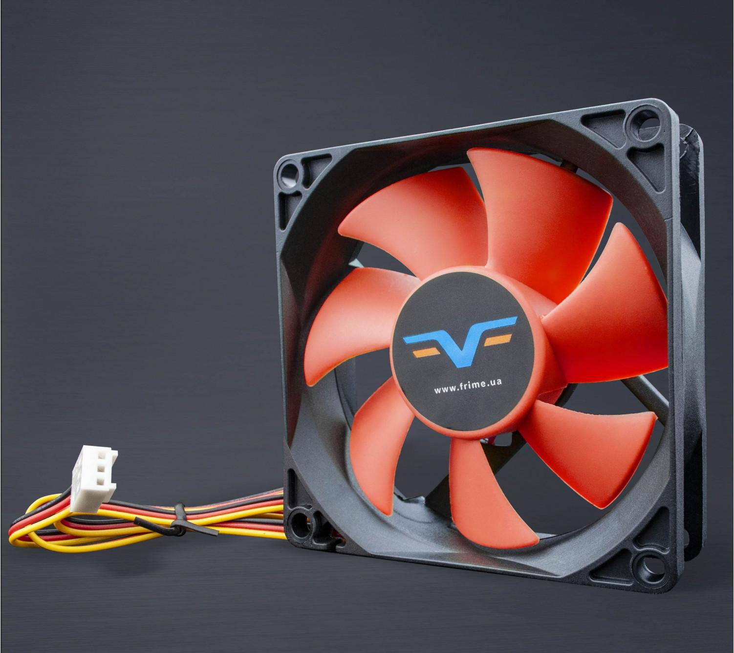 Вентилятор Frime FRF80 Black/Red 3Pin