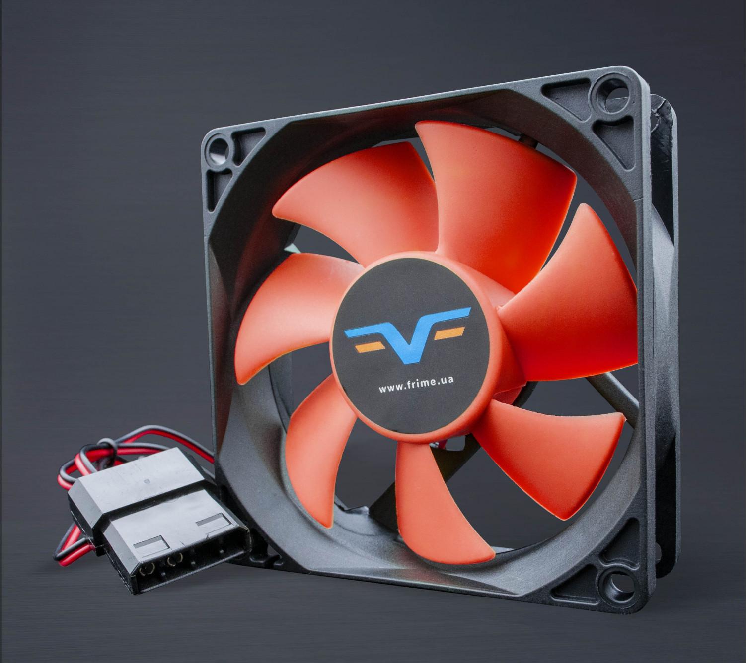 Вентилятор Frime FRF80 Black/Red molex