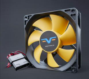 Вентилятор Frime FYF80 Black/Yellow molex