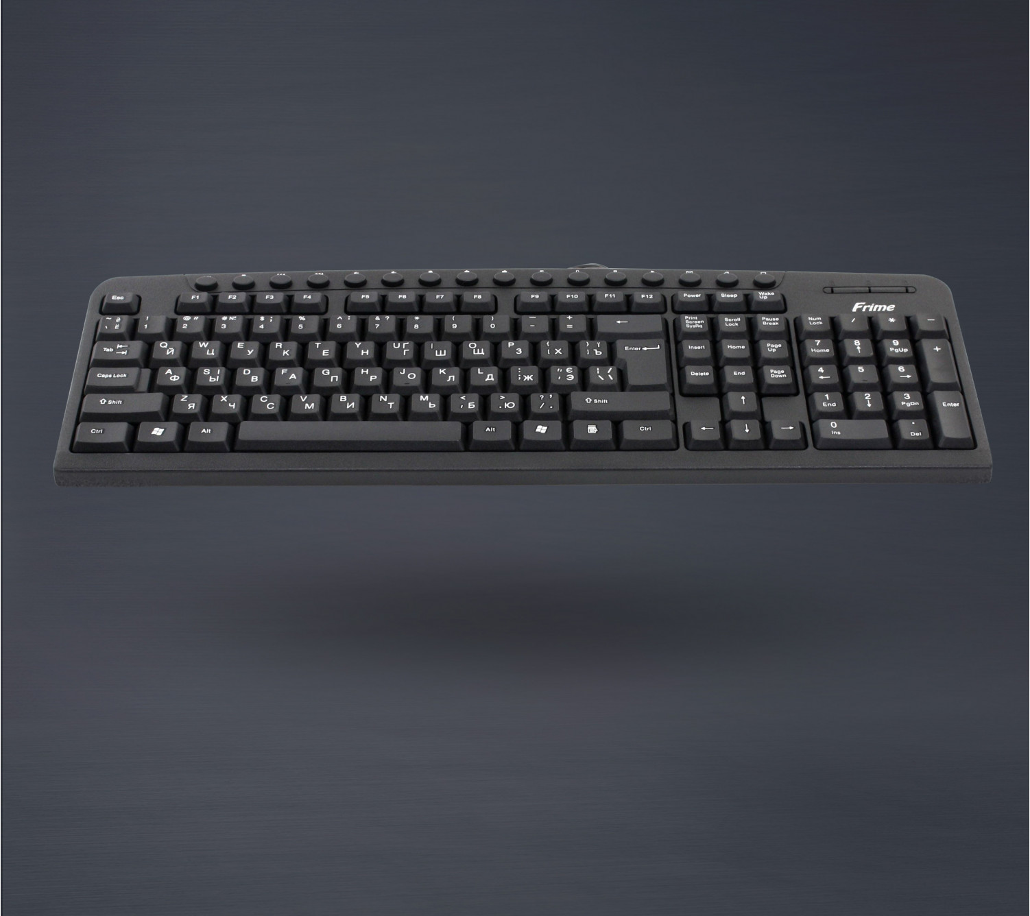 Клавиатура Frime FKBM-110 USB RUS/UKR, Black