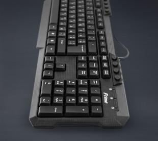 Клавиатура Frime FKBM-120 USB RUS/UKR, Black