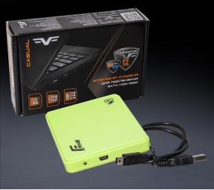 "Внешний карман Frime для 2.5"" SATA HDD/SSD Plastic USB 2.0 Green (FHE14.25U20)"