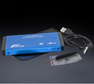 "Зовнішня кишеня Frime для 2.5"" SATA HDD/SSD Metal USB 2.0 Blue (FHE22.25U20)"