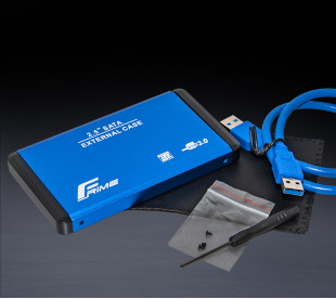 "Зовнішня кишеня Frime для 2.5"" SATA HDD/SSD Metal USB 3.0 Blue (FHE22.25U30)"