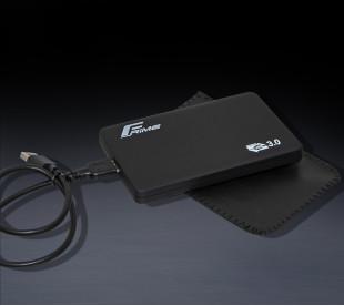 "Внешний карман Frime для 2.5"" SATA HDD/SSD Soft touch USB 3.0 Black (FHE30.25U30)"