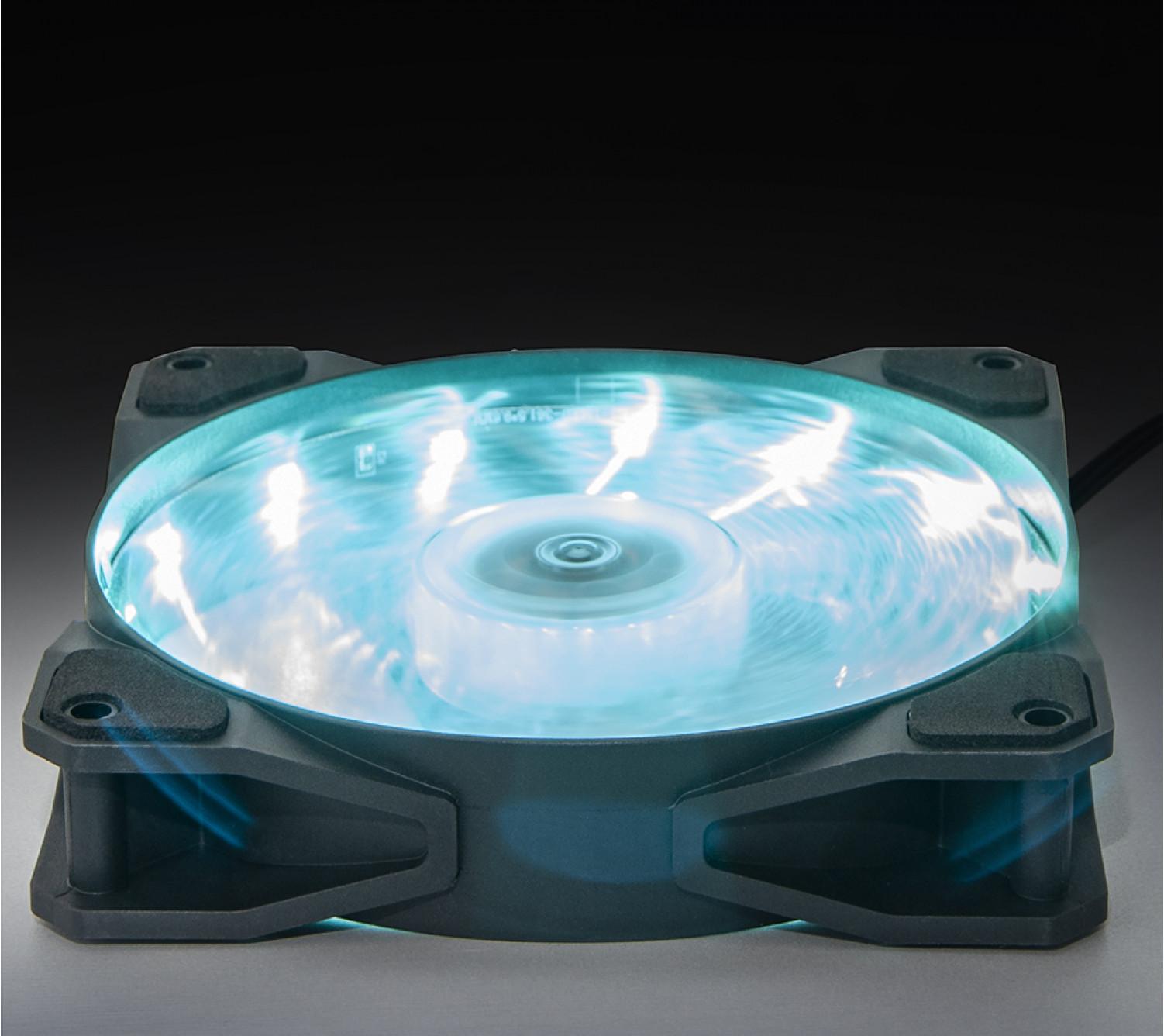 Вентилятор Frime Iris LED Fan 15LED Azure