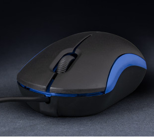 Миша Frime FM-010 черно-синя USB