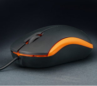 Мышь Frime FM-010 черно-оранжевая USB