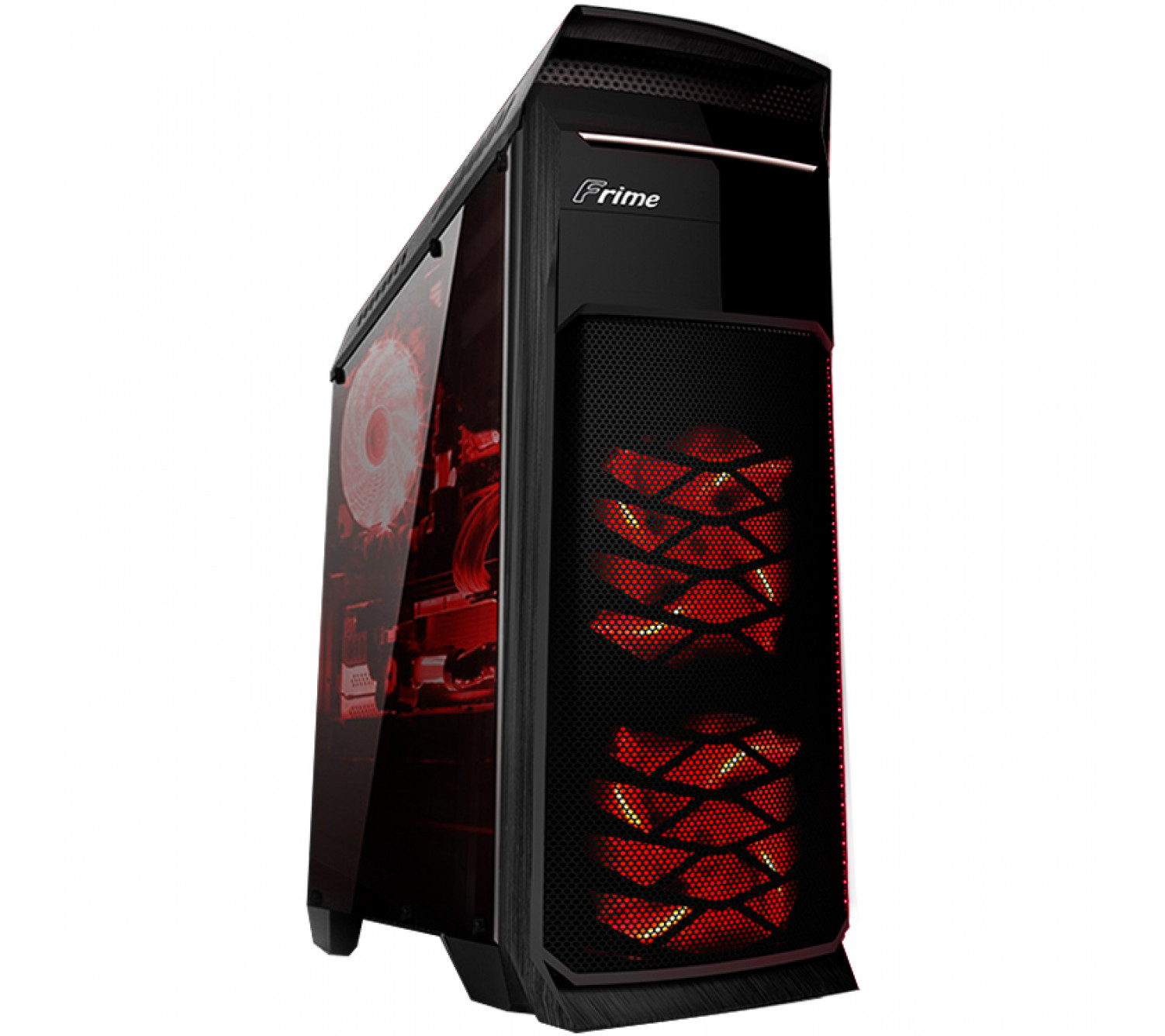 Корпус Frime FC-902B/Red LED USB3.0