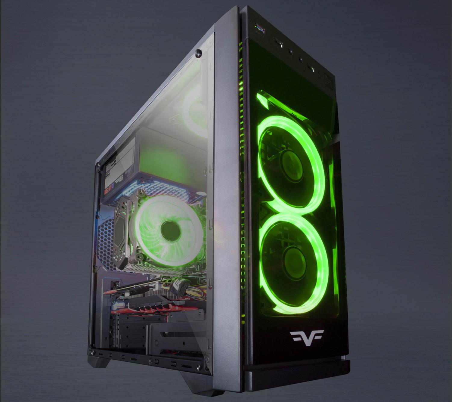 Корпус Frime GRANDMASTER Green LED