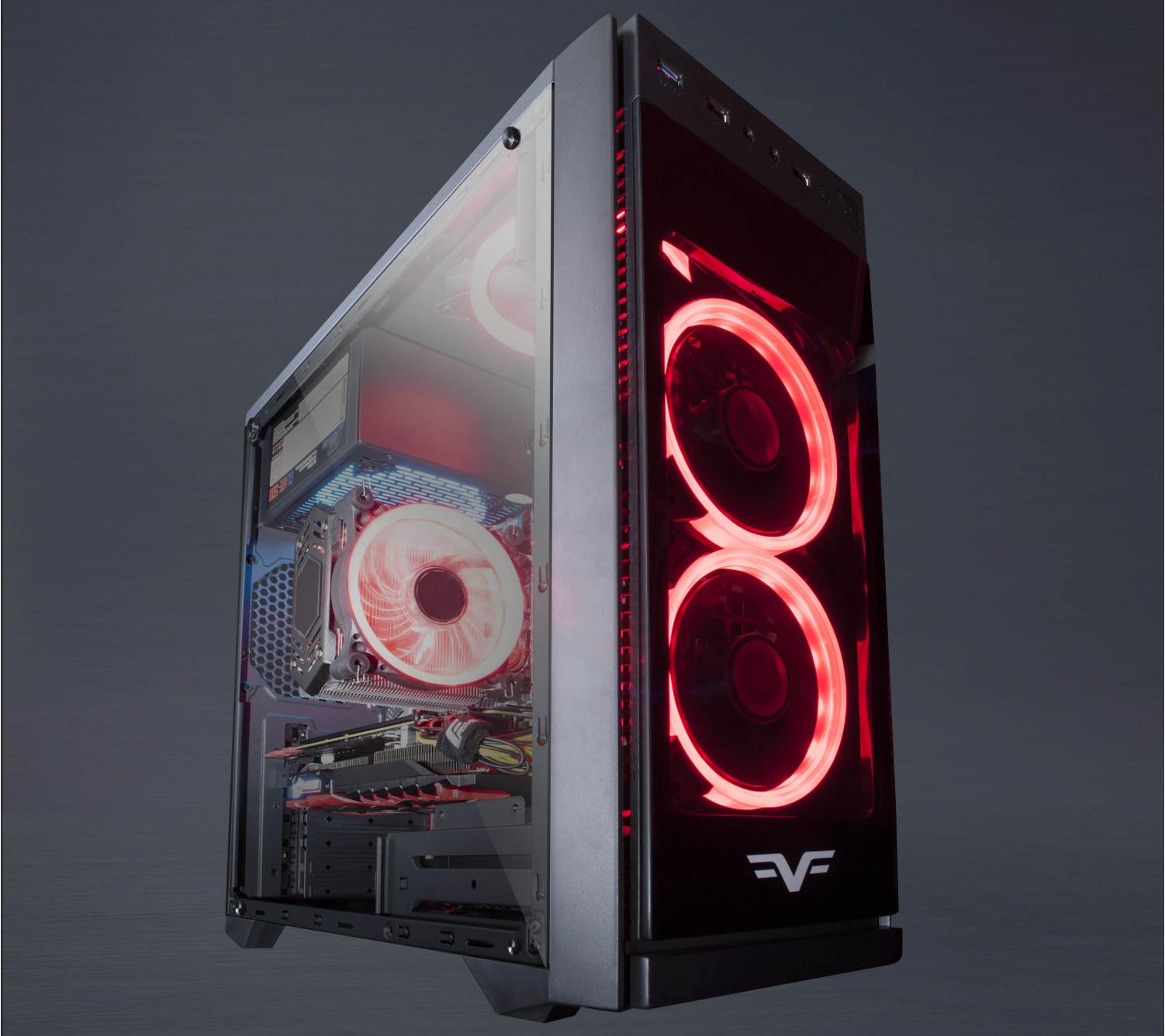 Корпус Frime GRANDMASTER Red LED