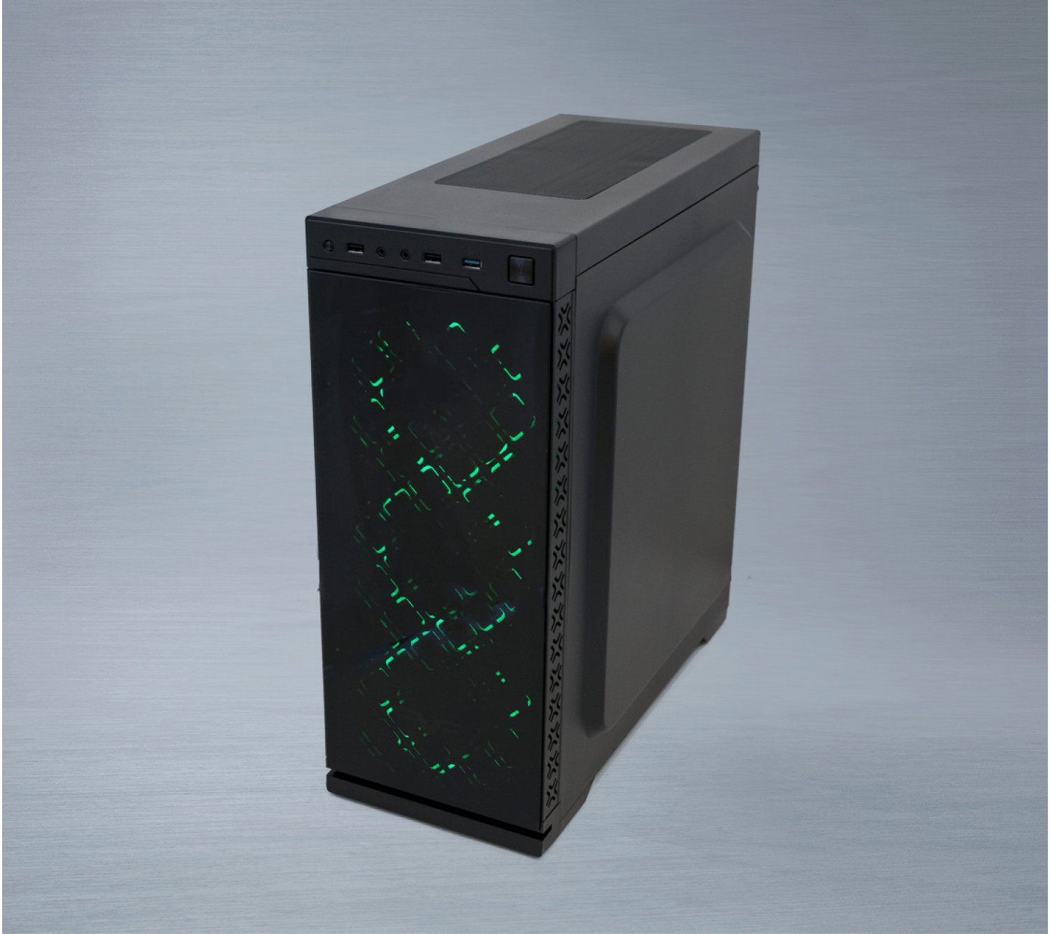 Корпус Frime ILLUSION Green LED