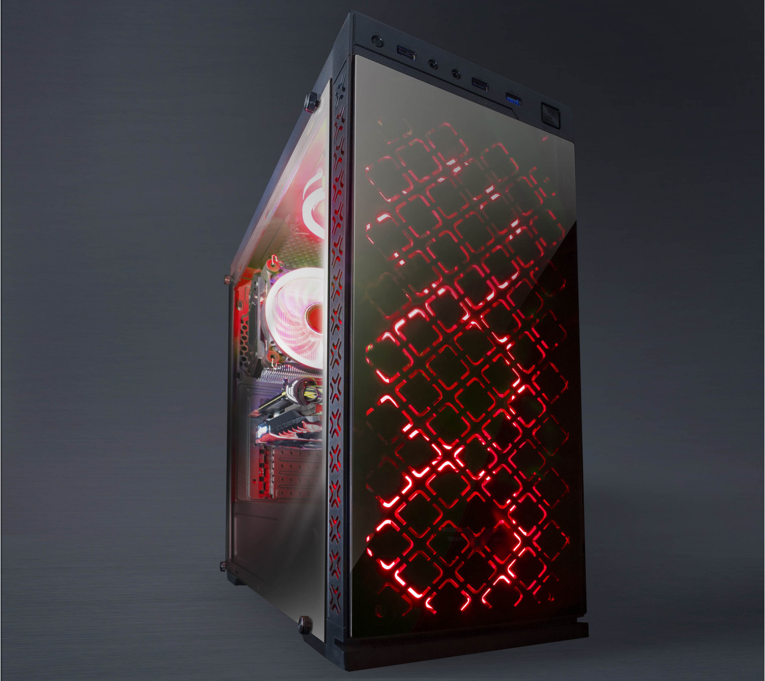 Корпус Frime ILLUSION Red LED