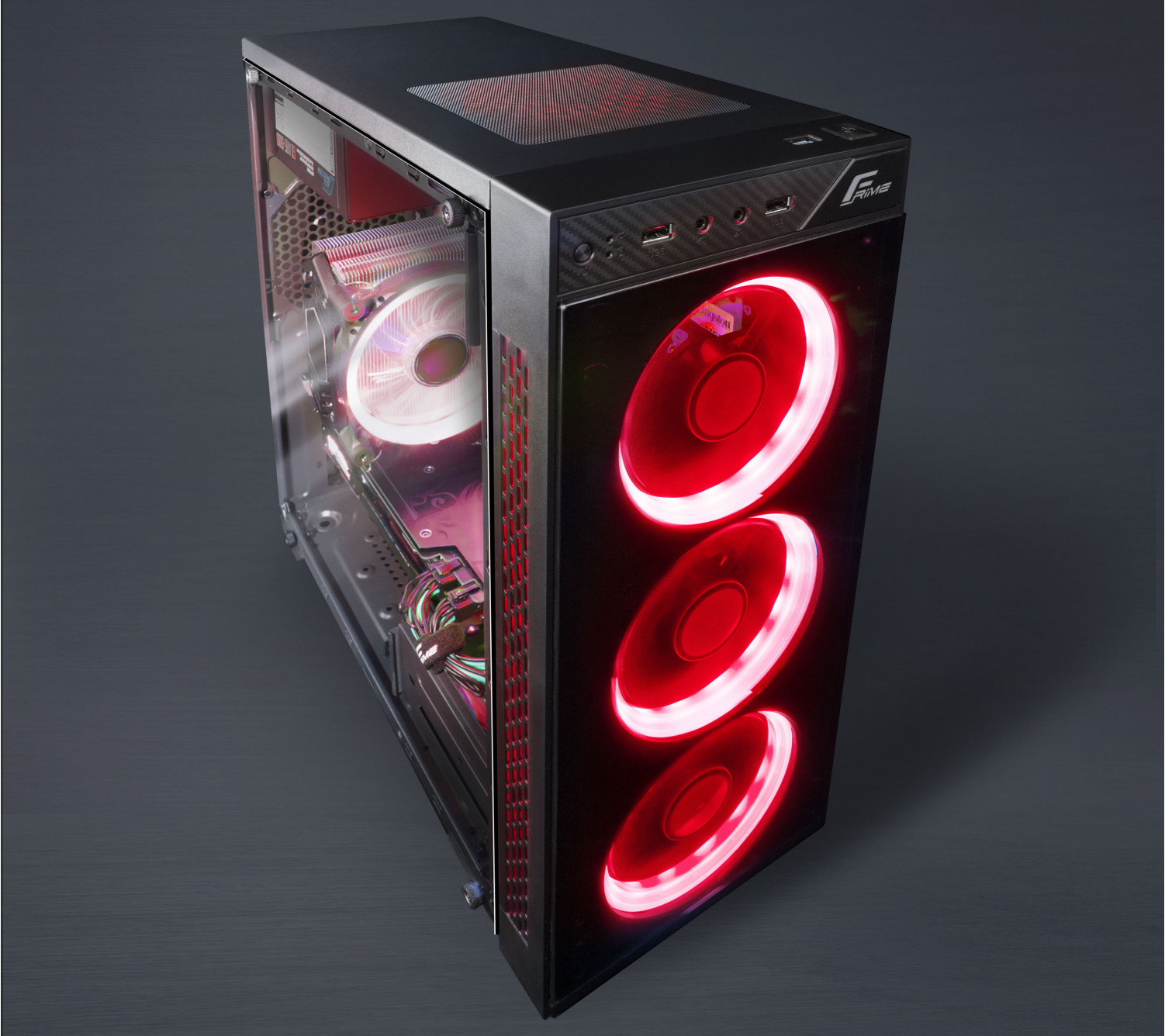 Корпус Frime SAKAAR Red LED