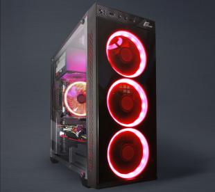 Корпус Frime SAKAAR Red LED