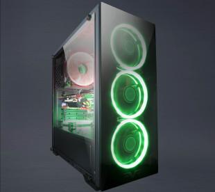 Корпус Frime WANDA Green LED