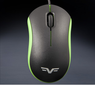 Мышь Frime FM-010 черно-зеленая USB