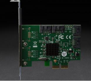 Контроллер Frime PCI-E x2 RAID SataIII 6Gbps 4 канала, 88SE9230