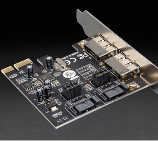 Плата расширения Frime PCI-E to 2xeSata+2xSata III 2 внутр. канала, Chip: asmedia ASM1061 (ECF-PCIEto2.2SATAIII.LP)