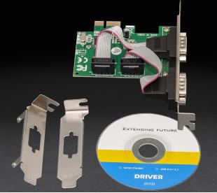 Плата расширения Frime PCI-E x1 to RS232 (2 порти), WCH382L (ECF-PCIEto2SWCH382.LP)