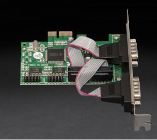 Плата расширения Frime PCI-E x1 to RS232 (4 порта), WCH384L (ECF-PCIEto4SWCH384.LP)