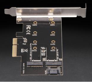 Плата расширения Frime PCI-E x4 to M.2 (B&M Key) NGFF (ECF-PCIEtoSSD001.LP)