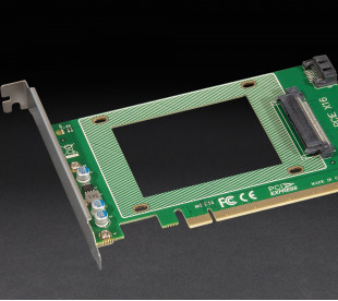 """Адаптер Frime PCI-E x16 to U.2 SFF8639 2.5"""" NVMe или Sata"""