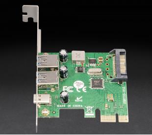Плата расширения Frime PCI-E to USB3.0 TYPE-A+C (2+1 порти) VL805 (ECF-PCIEtoUSB007.LP)