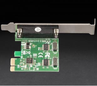 Плата расширения Frime PCI-E x1 to RS232+LPT (2 порта RS232 + 1порт LPT), ASIX AX99100 (ECF-PCIto2S1PAX99100.LP)