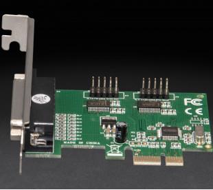 Плата расширения Frime PCI-E x1 to RS232+LPT (2 порта RS232 + 1порт LPT), WCH382L (ECF-PCIto2S1PWCH382.LP)