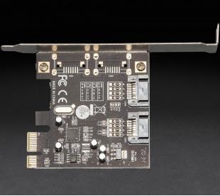 Плата расширения Frime PCI-E to 2 x Sata III 2 внутр. канала, ASM1061 (ECF-PCIEto2SATAIII.LP)