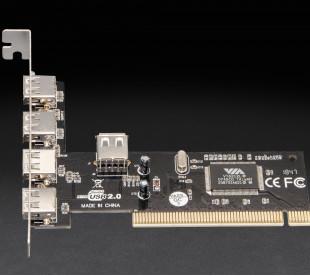 Плата расширения Frime PCI to USB2.0 (4+1 порты) VT6212