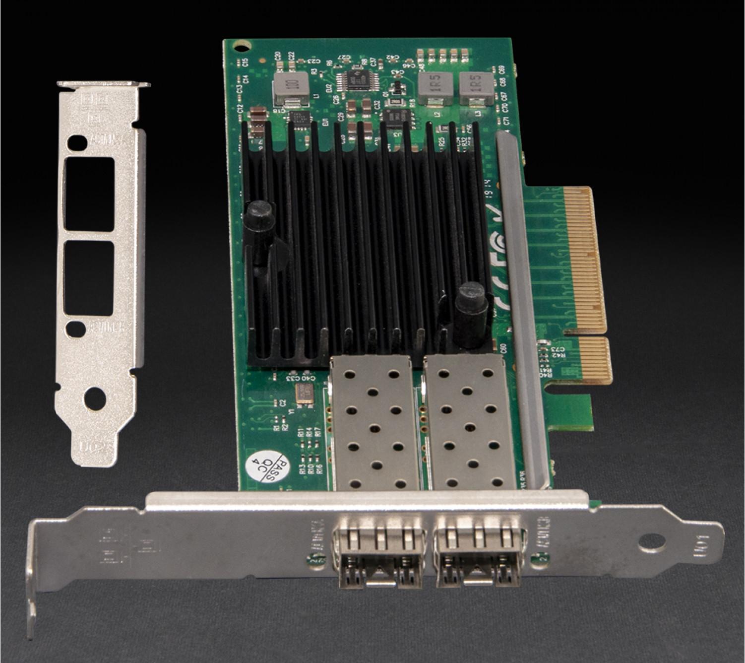 Сетевая карта Frime PCI-E x8 Dual SFP+ 10 Gigabit Ethernet Intel JL82599ES (NCF-10GbJL82599ES.DSFP)