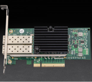 Сетевая карта Frime PCI-E x8 Dual SFP+ 10 Gigabit Ethernet Intel JL82599ES