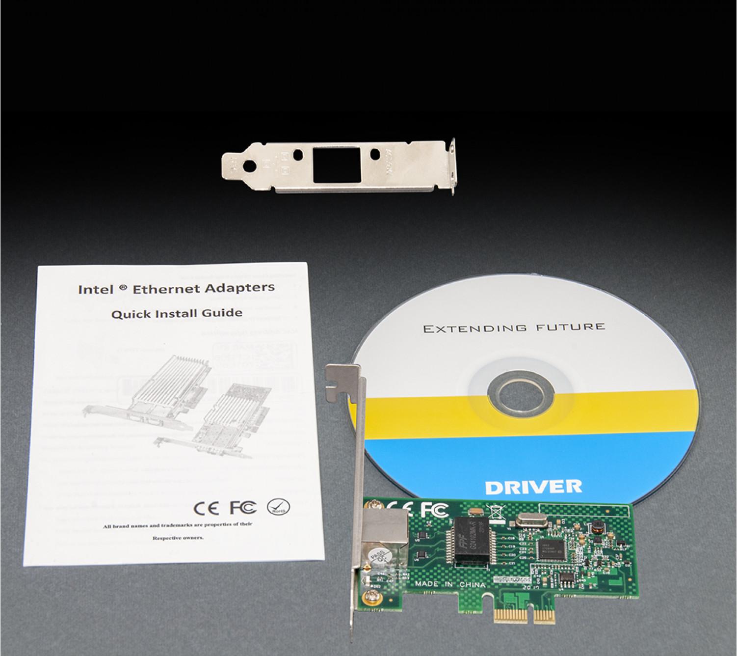 Сетевая карта Frime PCI-E x1 Gigabit Ethernet Intel WGI210AT (NCF-GbLanWGI210AT.LP)