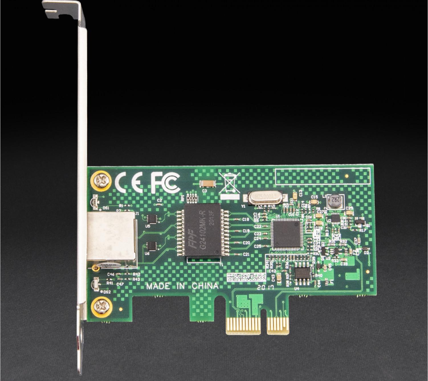 Мережева карта Frime PCI-E x1 Gigabit Ethernet Intel WGI210AT (NCF-GbLanWGI210AT.LP)
