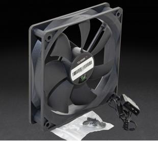 Вентилятор UPower 120x120х25мм 3pin+Molex 1500rpm HB Bearing Black