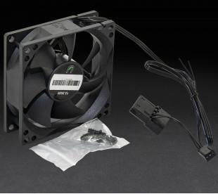 Вентилятор UPower 80x80х25мм 3pin+Molex 2000rpm HB Bearing Black